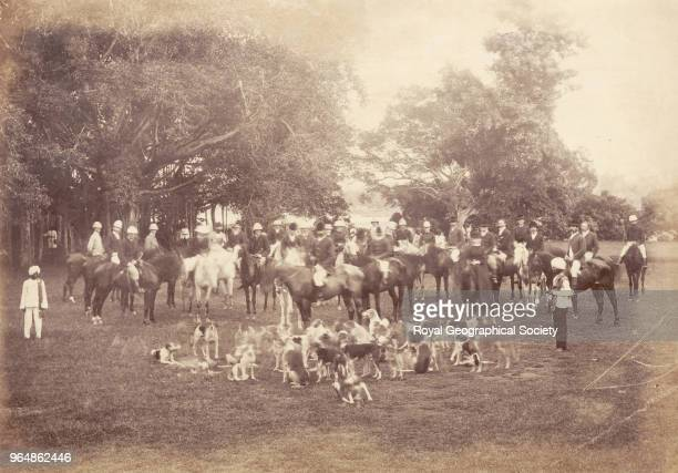 The First Meet of the Madras Hounds at Elphinstone Park India 10th December 1877