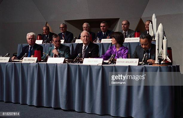 The first meeting of the Presidential commission to investigate the Challenger disaster informally known as the Rogers Commission after its chairman...