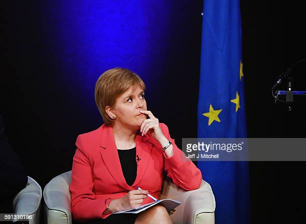 The First Minister Nicola Sturgeon and her Cabinet host a public discussion for EU nationals living in Scotland at the Corn Exchange on August 17...