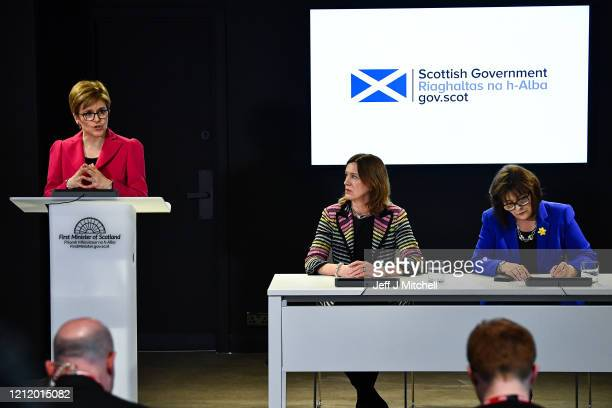 The First Minister Nicola Sturgeon Chief Medical Officer Dr Catherine Calderwood and Health Secretary Jeane Freeman deliver an update on Coronavirus...