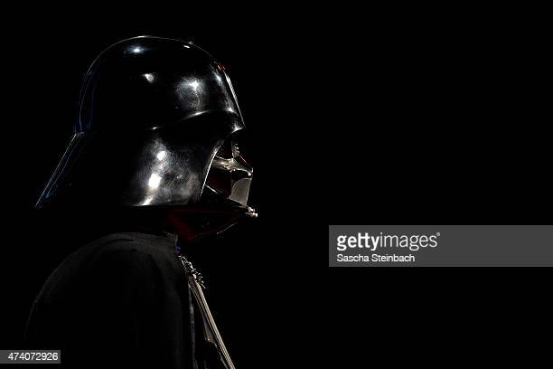 The first mockup of the iconic Darth Vader helmet is seen during the 'Star Wars Identities' Exhibtion Press Preview VIP Opening at Odysseum on May 20...