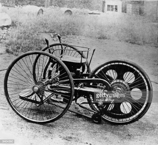 The first motor cycle invented by Edward Butler in 1887 called the PetrolCycle Original Publication Illustrated London News