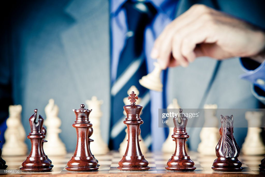 The First Move : Stock Photo