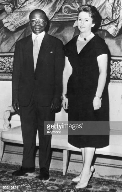 The first official portrait of the first president of the Republic of Senegal, Leopold Sedar Senghor with his wife Colette, circa 1960.
