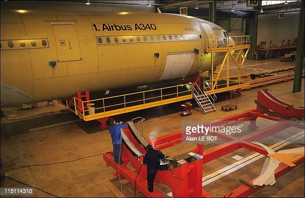 The first part of Airbus A340 in Saint Nazaire France on November 21 1990