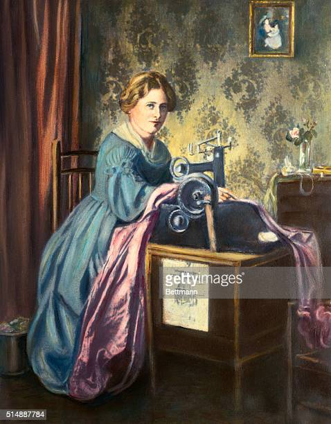 The first practical Singer sewing machine 1851