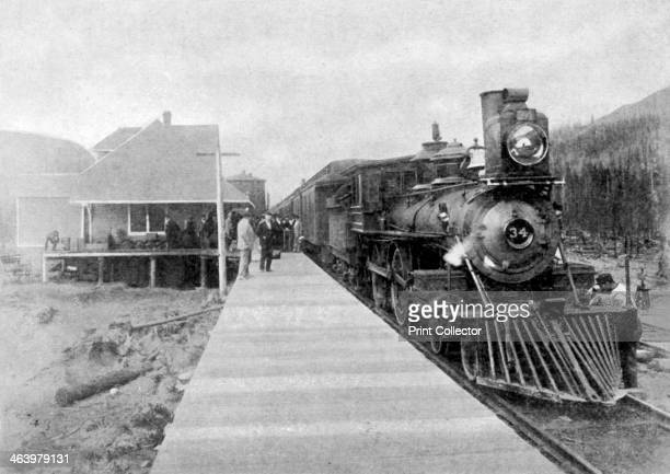 The first regular transcontinental train at Fernie British Columbia Canada 1886 The Canadian Pacific Railway which connects eastern Canada with...