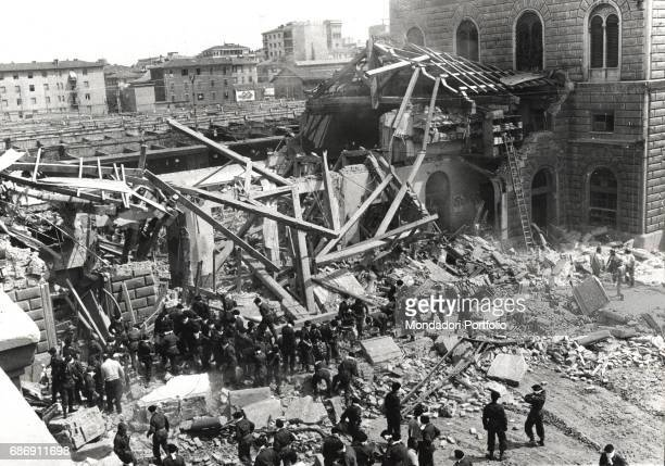 The first rescuers after the bombing at Bologna central station Bologna 2nd August 1980