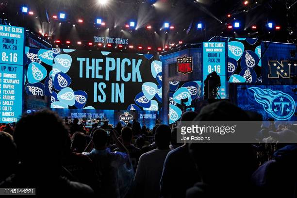 The first round pick of the Tennessee Titans is set to be announced during the NFL Draft on April 25 2019 in Nashville Tennessee