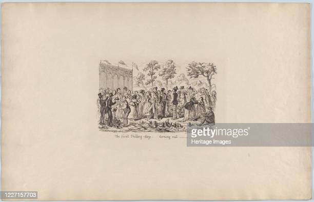 The First Shilling DayComing Out 1851 The admission price to the Great Exhibition of 1851 was reduced to a shilling Artist George Cruikshank