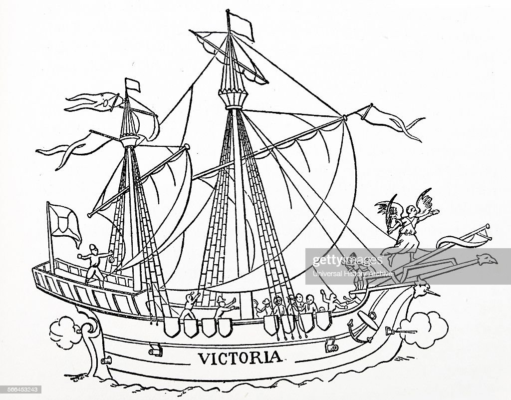 hulsius stock photos and pictures getty images Caravel Ship Blueprint the first ship that sailed around the world magellan s victoria from hulsius s collection of voyages 1602