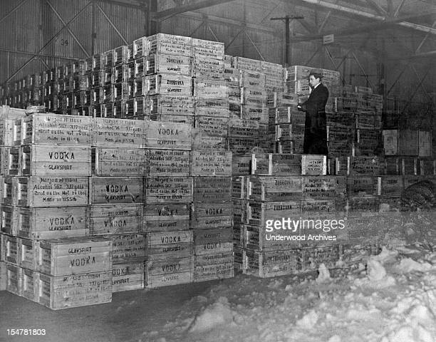 The first shipment of vodka from Russia since the end of Prohibition on December 5 New York New York circa 1934
