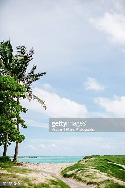 the first sight - kailua beach stock photos and pictures