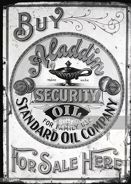 The first sign by John D Rockefeller Sr's company advertising kerosene by Standard Oil