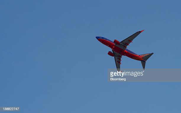 The first Southwest Airlines Co flight from Atlanta takes off from HartsfieldJackson International Airport in Atlanta Georgia US on Sunday Feb 12...