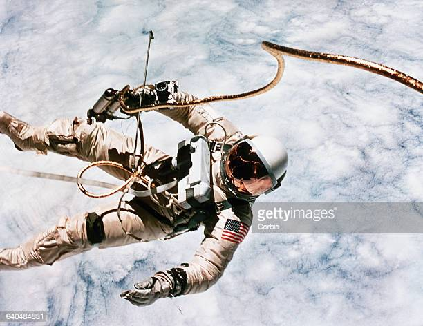 The first spacewalk in US history was made by astronaut Edward H White during the Gemini 4 mission on June 3 1965