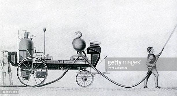 The first steam fire engine c1830 Invented and built by Braithwaite and Ericsson in 1830 Illustration from Story of the British Nation Volume IV by...