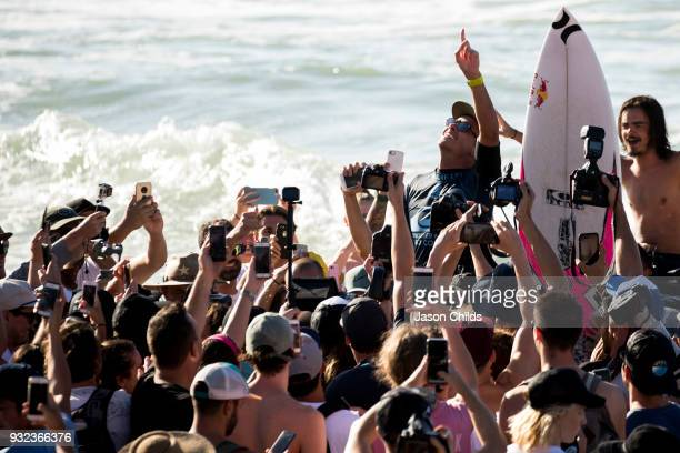 The first stop on the 2018 World Surf League Championship Tour Julian Wilson claimed victory today in extraordinary conditions at Kirra on the Gold...