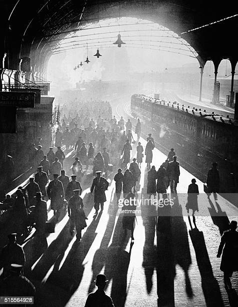 The first sunshine London knew for weeks welcomed sailors when they arrived at Victoria Station London England recently for the start of their...
