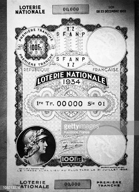 The First Ticket Of The New National Lottery In 1934