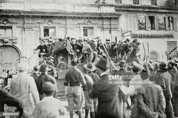 The first truck with fascists entering Rome March on Rome Italy from L'Illustrazione Italiana Year XLIX No 45 November 5 1922