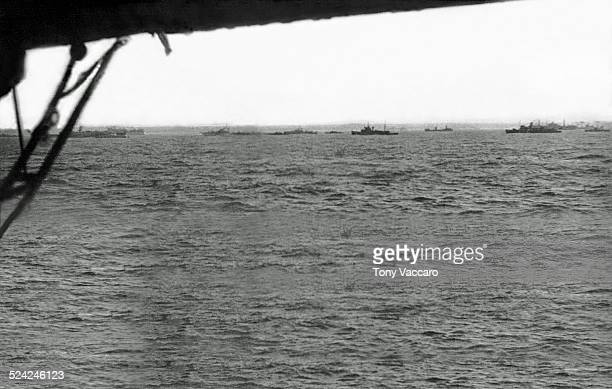 The first view of Normandy during the Normandy Landings US Army World War II June 1944