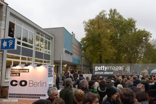 The first visitors wait for entrance to the new exhibition rooms of C/O Berlin in Amerika Haus in BerlinGermany 30October 2014 C/OBerlin in a...