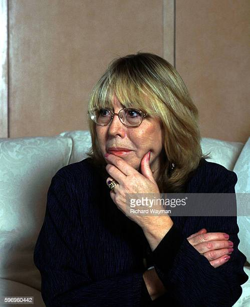 The first wife of John Lennon Cynthia Lennon at his son Julian's home