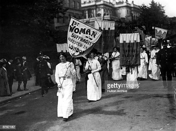 The first women suffragettes arrested in London.