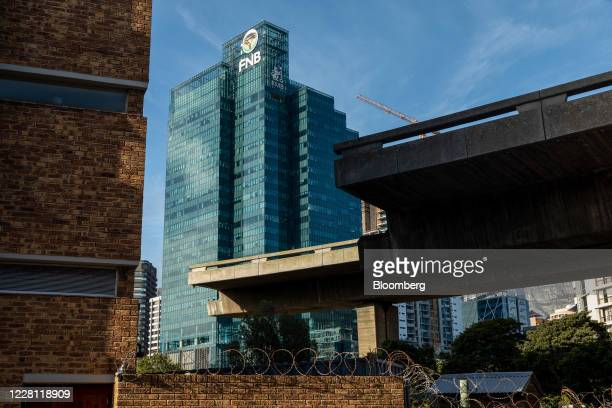 The FirstRand Bank Ltd office building stands in Cape Town South Africa on Wednesday Aug 19 2020 The country which in late March implemented one of...