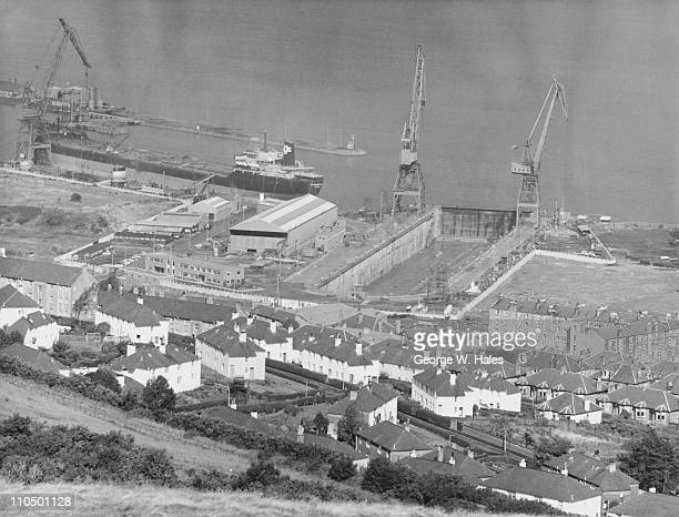 The Firth of Clyde Drydock at Greenock on the River Clyde, Scotland, 2nd November 1966.