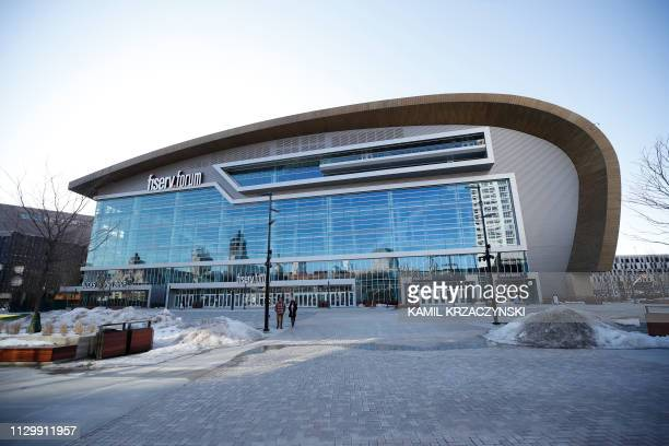 The fiservforum the site of the 2020 Democratic National Convention is seen in Milwaukee Wisconsin on March 11 2019 Democrats have chosen Milwaukee...