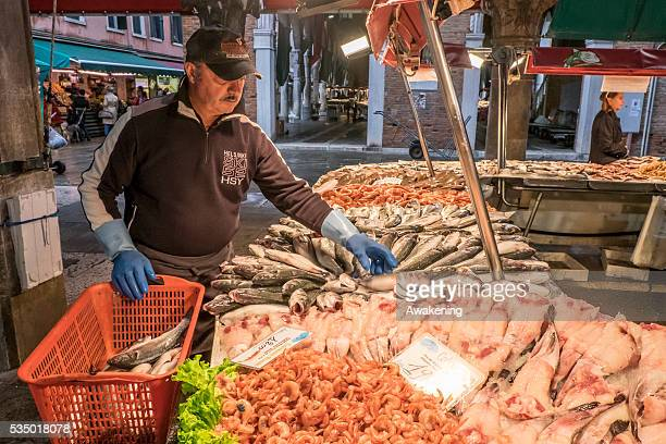 The fish market in Rialto is one of the most characteristic in the all of Italy