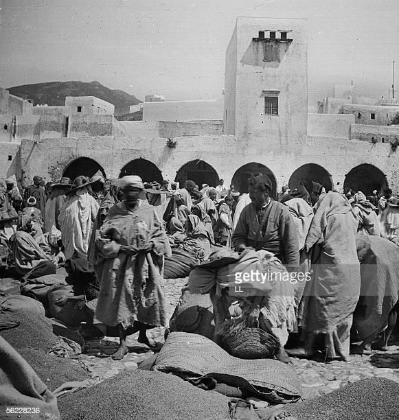 The fish market Tetouan by 1885