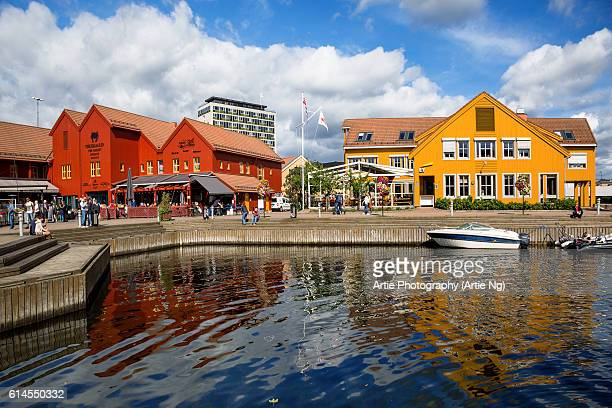 The Fish Wharf (Fiskebrygga), Kristiansand, Vest-Agder County, Southern Norway