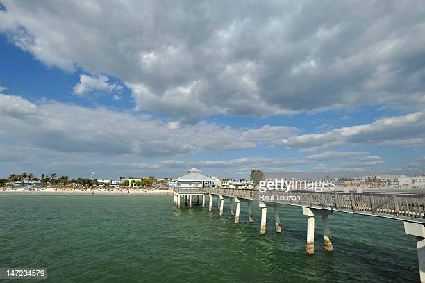 fort myers beach, florida, usa. - fort myers beach stock photos and pictures