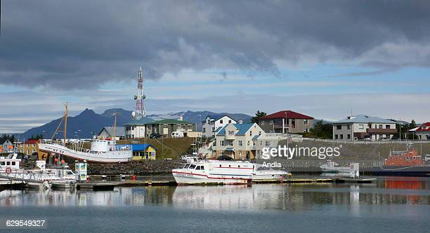 The fishing port of Hofn in the south of Iceland