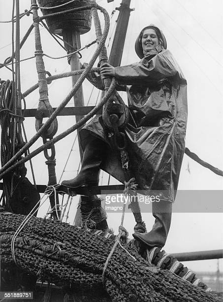 The 'Fishing Queen of Fleetwood ' on the trawler Northern GIFT 24th April 1937 Photograph