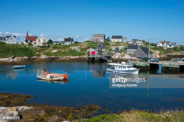 The fishing village of Peggy's Cove with its natural harbor near Halifax Nova Scotia Canada