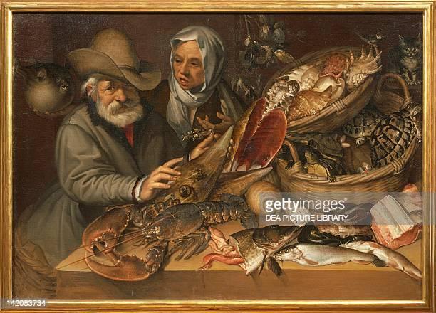 The fishmarket by Bartolomeo Passarotti oil on canvas 112x152 cm