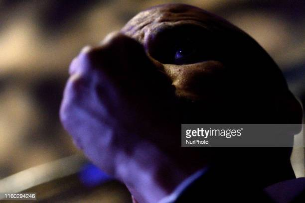 The fist of Sen Cory Booker obscures his face as he talks about the gun violence crisis in America during a campaign event at the Fillmore in...