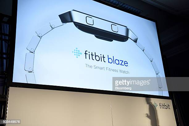The Fitbit Inc Blaze fitness tracker is unveiled during an event at the 2016 Consumer Electronics Show in Las Vegas Nevada US on Tuesday Jan 5 2016...