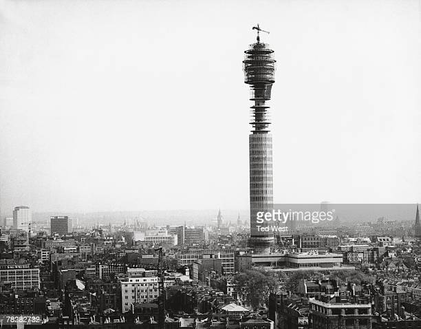 The Fitzrovia area of London dominated by the nearlycompleted Post Office Tower 23rd May 1964