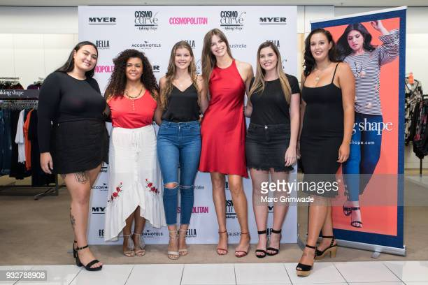 The five Brisbane finalists Vaine Blakelock Loren Burton Olivia Lines Hayley Andersen and Jaydan Thomson at the Cosmo Curve on March 16 2018 in...