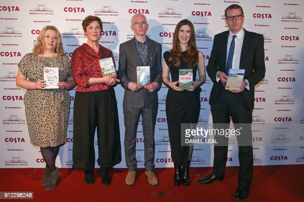 The five class winners British author Gail Honeyman British author Rebecca Stott British author Jon McGregor British author Katherine Rundell and son...