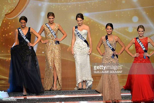 The five finalists Miss Aquitaine 2014 Malaurie Eugenie Miss NordPasDeCalais 2014 Camille Cerf Miss Cote d'Azur 2014 Charlotte Pirroni Miss Tahiti...