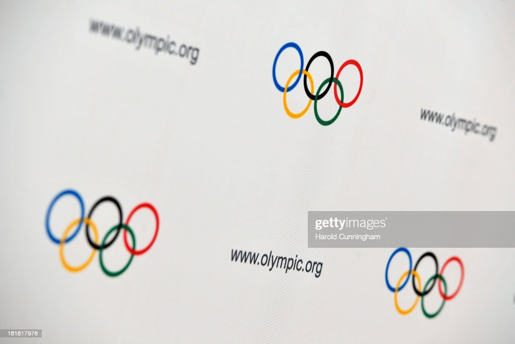 The five Olympic rings are seen during the International Olympic Committee (IOC) Executive board meeting at the Lausanne Palace Hotel on February 12, 2013 in Lausanne, Switzerland. The two day board meeting is taking place to ensure the relevance of the Games.