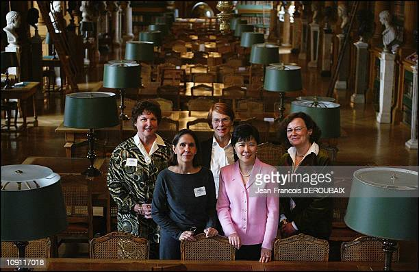 The Five PrizeWinners Of The 2004 L'OrealUnesco 'For Women In Science' Program At The Mazarine Public Library Institut De France Paris On March 10...