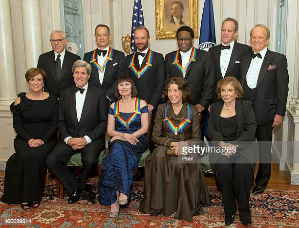 The five recipients of the 2014 Kennedy Center Honors pose for a group photo following a dinner hosted by United States Secretary of State John F...