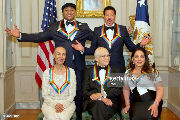 The five recipients of the 40th Annual Kennedy Center Honors pose for a group photo following a dinner hosted by United States Secretary of State Rex...